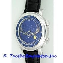 Patek Philippe White gold Automatic Blue Roman numerals 43mm pre-owned Celestial