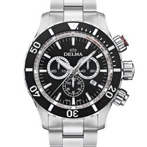 Delma Chronograph 45.5mm Quartz new Black