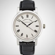 A. Lange & Söhne Platinum Manual winding Silver Roman numerals 40.5mm pre-owned Richard Lange