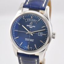 Breitling Transocean Day & Date Steel 43mm Blue United States of America, Ohio, Mason