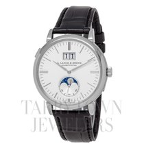 A. Lange & Söhne White gold Automatic Silver 40mm pre-owned Saxonia