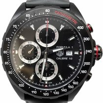 TAG Heuer Formula 1 Calibre 16 pre-owned 44mm Black Chronograph Date Rubber