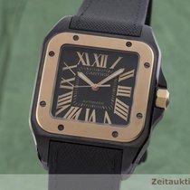 Cartier Santos 100 Zlato/Zeljezo 38.5mm Crn
