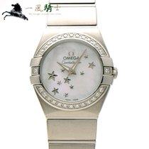 Omega Constellation Quartz Acero 24mm Blanco
