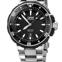 Oris ProDiver Date Titanium Bracelet, Black Dial