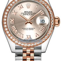 Rolex Lady Datejust 28mm Stainless Steel and Everose Gold...