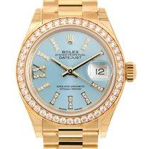 勞力士 (Rolex) Lady Datejust 18 K Yellow Gold Light Blue Automati...