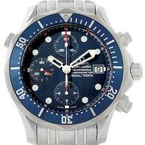 Omega Seamaster Bond Chronograph Blue Dial Steel Mens Watch...
