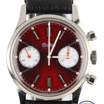 Gallet Chronograph Red 34mm Manual Valjoux 7733 Stainless Watch