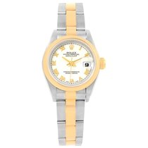 Rolex Datejust Steel Yellow Gold White Roman Dial Ladies Watch...