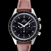 Omega Speedmaster Moonwatch Chronograph 39.7mm Black Steel/Lea...
