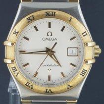 Omega Constellation Gold/Steel 27MM Date Quartz Lady's