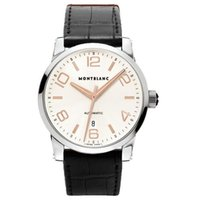 Montblanc MEN'S TIMEWALKER 101550 AUTOMATIC ROSE GOLD LEATHER...