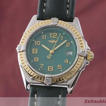 Breitling Wings Lady Gold/Steel 31mm Green