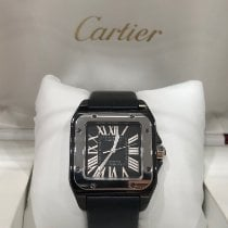 Cartier Ceramic Automatic Black Roman numerals 33mm pre-owned Santos 100