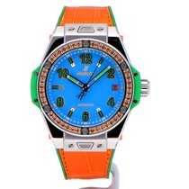 Hublot Big Bang Pop Art Stahl 39mm Blau Arabisch