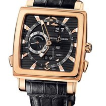 Ulysse Nardin Quadrato Dual Time Perpetual Or rose 42mm Noir Arabes