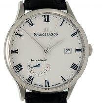 Maurice Lacroix Masterpiece Réserve de Marche Acél 40mm Fehér Római
