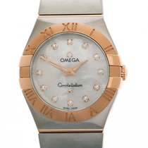 Omega Constellation Quartz Steel 27mm Mother of pearl Roman numerals