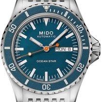 Mido Ocean Star Ocel 40.5mm Modrá