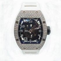 Richard Mille RM 010 Oro blanco 48mm Transparente Árabes