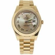 Rolex Day-Date II Žluté zlato 41mm Šampaňská barva Římské