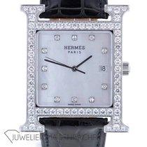 Hermès Damenuhr Heure H 30mm Quarz gebraucht Nur Uhr 2000