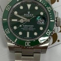 Rolex Submariner Date Сталь 40mm Зелёный Без цифр