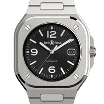 Bell & Ross Steel Automatic Black Arabic numerals 40mm new BR 05