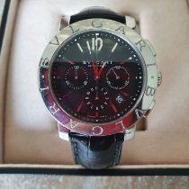 Bulgari Bulgari pre-owned 42mm Black Chronograph Weekday Crocodile skin
