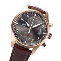 IWC Pilot Spitfire Chronograph occasion 43mm Gris Chronographe Date Cuir