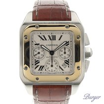 Cartier Santos 100 Chrono Gold/Steel