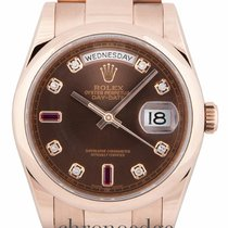 Rolex Day-Date 36 Everose Diamond & Ruby 118205