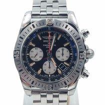 Breitling Chronomat 01 44 Black Dial Airborne On Bracelet...
