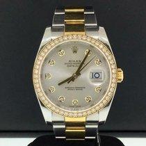 Rolex Datejust 36mm Two Tone Steel & 18k Yellow Gold Diamond...
