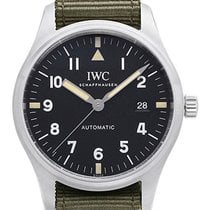 IWC Pilot Mark Stål 40mm Svart Arabisk