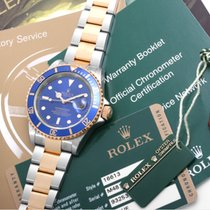 Rolex 2008 UNWORN 18K/SS Submariner Blue - w/ Box,Papers,Tags