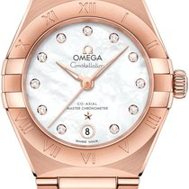 Omega Rose gold Automatic Mother of pearl 29mm new Constellation