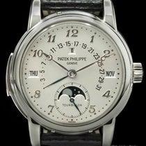 Patek Philippe Minute Repeater Perpetual Calendar Platinum 37mmmm Silver
