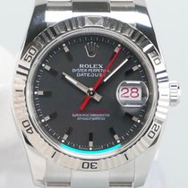 Rolex Datejust Turn-O-Graph tweedehands 36mm Grijs Datum Staal