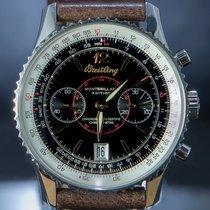 Breitling Montbrillant rabljen 43mm Crn Kronograf Datum, nadnevak Koza