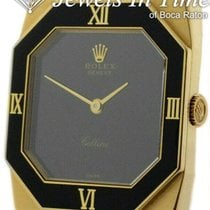 Rolex Cellini pre-owned 35.5mm Black Yellow gold