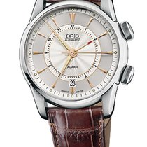 Oris Artelier Alarm Stainless Steel with Gold Index