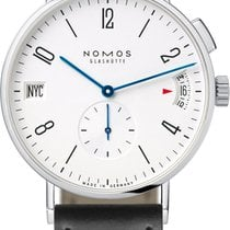 NOMOS Tangomat GMT Steel 40mm White United States of America, New York, Airmont