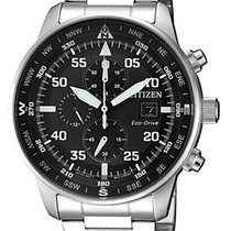 Citizen Aviator Chrono Black Dial Steel Case 44mm CA0690-88E