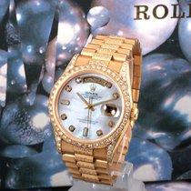 Rolex 36m 18K Day-Date Custom MOP Diam Dial - Bezel - Band 18238