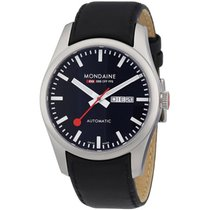 Mondaine Retro Automatic Watch Black Dial