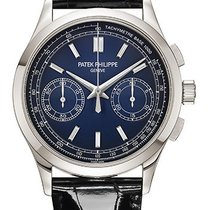 Patek Philippe Chronograph Platinum 39.4mm Blue No numerals