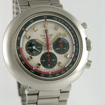 Tissot Chronograph 43mm Manual winding 1970 pre-owned Silver