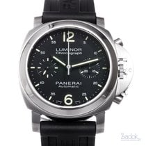 Panerai Chronograph 40mm Automatic pre-owned Luminor Chrono Black